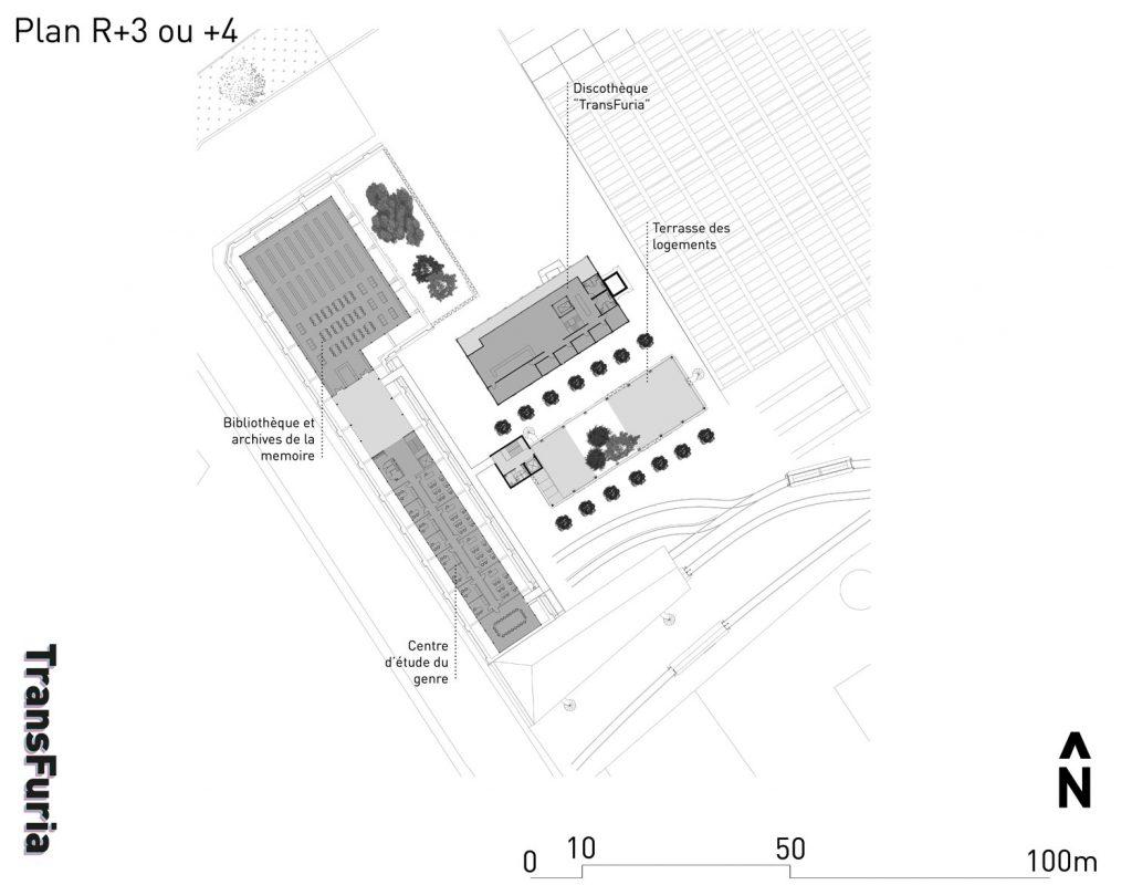 Les derniers étages – Des institutions ; la terrasse partagée des logements ; et aussi la discothèque, terminus du mémorial.