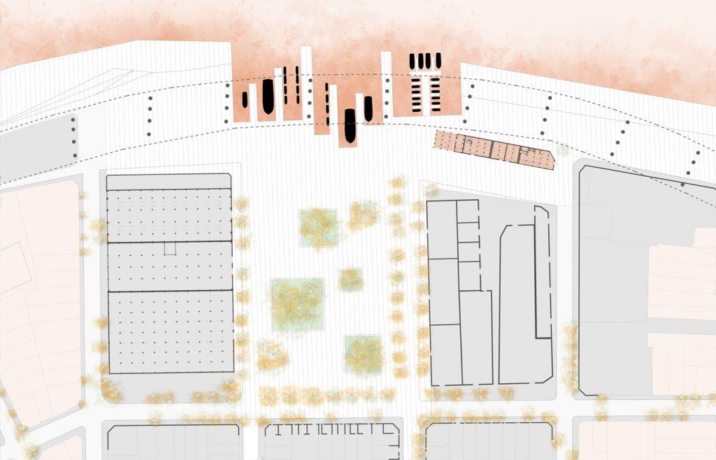 Passage entre le métropolitain et l'architecture