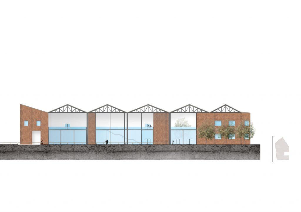 L'espace de la table en 2D: la façade ouest