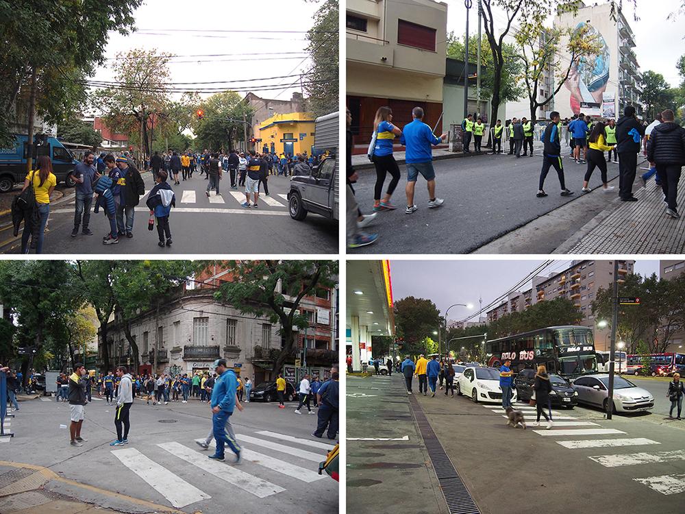 Affluence des supporters dans la rue